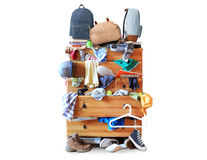 Mess, dresser with scattered clother Royalty Free Stock Photography