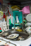 Mess in the kitchen Royalty Free Stock Photography