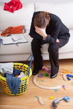 Mess, laundry and toys Stock Photo