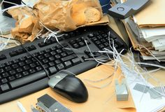 Mess office Stock Image