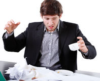 Mess in the office Royalty Free Stock Photo