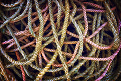 Mess of Ropes Stock Image