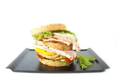 Mess sandwich Stock Images
