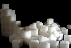 A mess from sugar cubes Stock Images