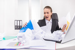 Mess on the working place. Royalty Free Stock Photo