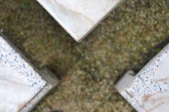 Messa a fuoco selettiva astratta della tavola del granito del triangolo a Conor adatto a contesto del fondo Immagine Stock Libera da Diritti