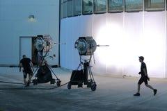 Messa in opera delle troupe cinematografica di Vancouver fotografia stock