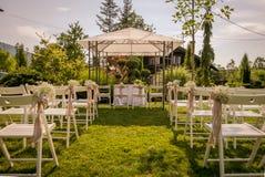 Messa a punto all'aperto per nozze Immagini Stock