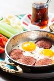 Messa a punto con la prima colazione turca tradizionale Immagine Stock Libera da Diritti