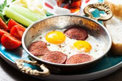 Messa a punto con la prima colazione turca tradizionale Fotografie Stock Libere da Diritti