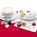 Messa a punto dei dolci di San Valentino Immagine Stock Libera da Diritti