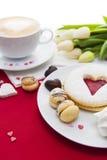 Messa a punto dei dolci di San Valentino Fotografia Stock Libera da Diritti