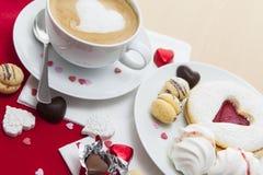 Messa a punto dei dolci di San Valentino Fotografia Stock