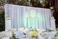 Messa a punto della fase di nozze Fotografia Stock Libera da Diritti