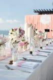 Messa a punto della tavola di nozze Immagini Stock