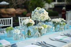 Messa a punto della tavola di nozze Fotografie Stock
