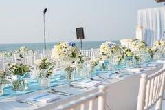 Messa a punto di nozze di spiaggia Immagine Stock Libera da Diritti