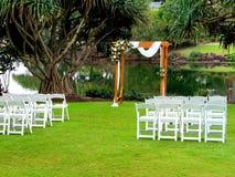 Messa a punto di nozze fotografia stock libera da diritti