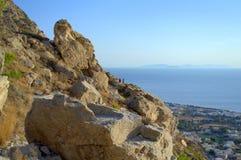 Messa Vouno Mountain,Santorini Royalty Free Stock Image