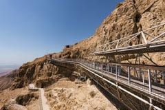 Messada fästning i Israel royaltyfria foton