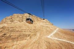 Messada-Festung in Israel stockbild