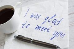 Message écrit sur la serviette Image stock