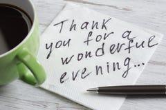 Message écrit sur la serviette Photographie stock