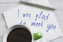 Message écrit sur la serviette Photographie stock libre de droits