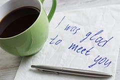 Message écrit sur la serviette Image libre de droits