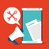 Message électronique et conception de communication illustration libre de droits