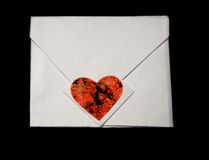 Message. By day of sacred Valentine the main symbol: hearts Royalty Free Stock Photography