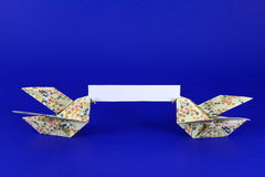 Message 2 d'Origami photo stock