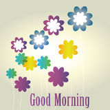 Message. A good morning message in white background Stock Images