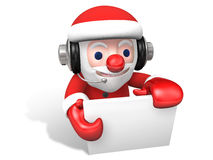 Message of 3d santa claus Stock Image
