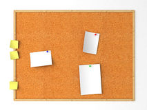 Message. Isolated cork message board. White background Royalty Free Stock Photography