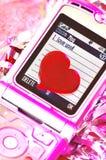 Message abstrait de l'amour Photographie stock libre de droits
