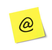 At message on adhesive note Royalty Free Stock Photo