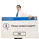 message amical d'ordinateur d'homme d'affaires photo libre de droits
