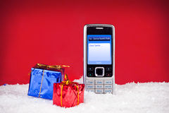 Message avec texte à Santa Photos libres de droits