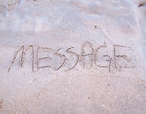 Message on the beach Stock Images