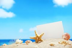 Message from beach Royalty Free Stock Photography