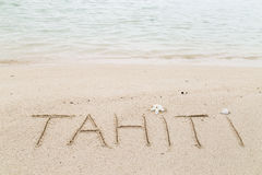 Message on the beach Stock Photography