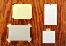 Message Board. With blank messages ready to fill Royalty Free Stock Images