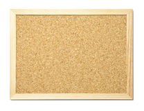 Message board. Blank cork message board with wooden frame Stock Images