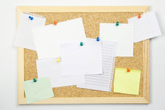 Message board. Isolated on white Stock Photography