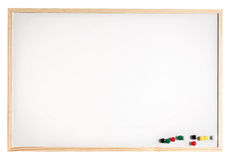 Message board. Magnetic message board, isolated on white Stock Images
