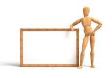 Message board. Blank Message board (computer generated image stock illustration