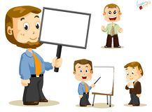 Message Board. Business People. Message Board. Set of people about Business activity in office. Detailed Vector Series Royalty Free Stock Image