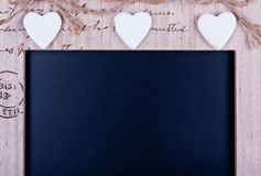 Message board. Decorated with hearts Stock Photography