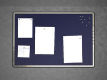 Message board with notes Royalty Free Stock Photo